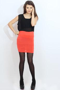 Короткое платье с черной юбкой Kokette