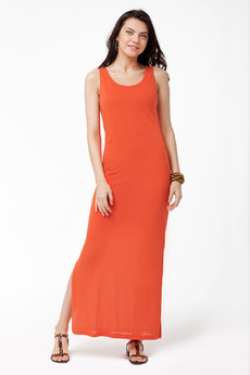 Длинное платье с подкладом и завязками на спине Vilatte