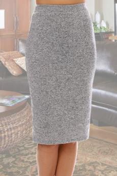 Серая трикотажная юбка Натали