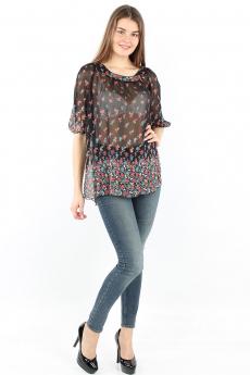 Прозрачная блуза с цветами Bast